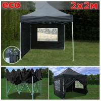 Быстросборный шатер гармошка со стенками 2х2м черный