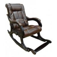 Кресло-качалка, модель 77 экокожа с подножкой