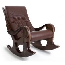 Кресло-качалка Грация (с росписью), натуральная кожа