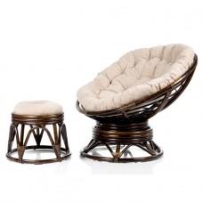 Кресло-качалка Pretoria с подушкой и пуфиком