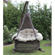 Подвесное кресло качели CARTAGENA с подушками + балдахин