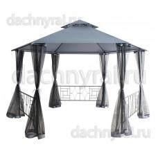 Беседка Нисса с москитной сеткой D3,5 сетка + шторы