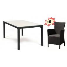 Обеденная группа Samoa М-6 (стол Самоа с 6 стульями Монтана)