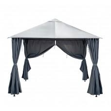 Беседка павильон Калибри серый 3х3м