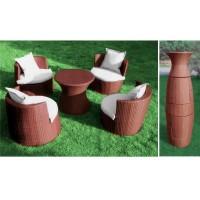 Набор-трансформер «Колонна». Стол и 4 кресла с подушками.