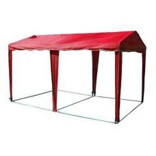 Садовый Тент 5 х 2,5, усиленный каркас, без стенок, красный