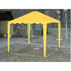 Садовый Тент 2,5х2,5м усиленный каркас, без стенок, желтый