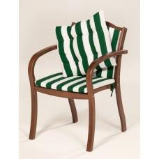 Кресло деревянное с матрацами и подушкой