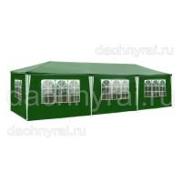 Шатер Green Glade 1063,  со стенками, зеленый, 3х9м