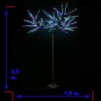 """LED-""""Японская ива""""пушистая, переливающиеся RGB светодиоды, 2.5м"""