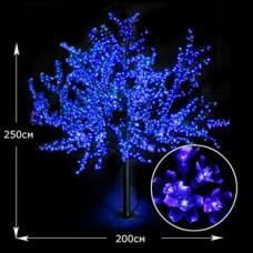 LED дерево Сакура 250см синий