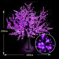 LED дерево Сакура 250см пурпурный