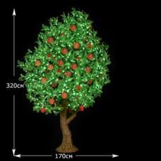 LED Персик с плодами 320см
