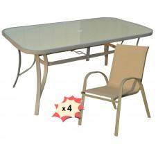 Комплект мебели Ронда, стол и 4 стула
