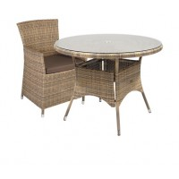 Комплект WICKER стол и 4 кресла, цвета разные