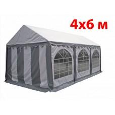Шатер павильон 4x6 м бело серый ПВХ