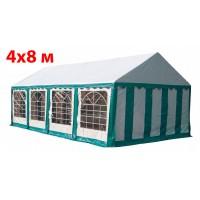 Шатер павильон 4x8 м бело зеленый