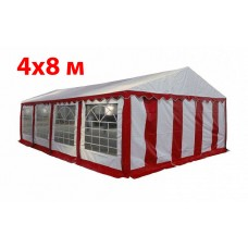 Шатер павильон 4x8 м бело красный