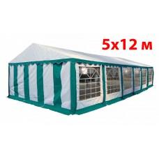 Шатер павильон 5x12 м бело зеленый ПВХ
