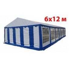 Шатер павильон 6x12 м бело синий ПВХ