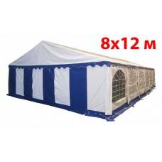 Шатер павильон 8x12 м бело синий ПВХ
