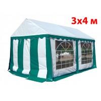 Шатер тент 3x4 м бело зеленый ПВХ