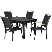 Комплект мебели раздвижной стол и 8 стульев HFS 0404