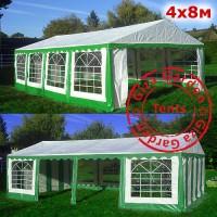 Шатер Giza Garden 4х8 м зеленый усиленный