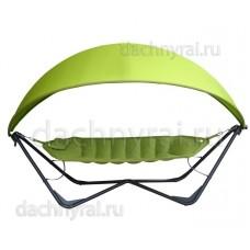 Гамак релакс двухместный с каркасом и навесом зеленый