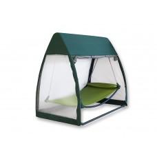 Подвесные качели гамак с москитной сеткой зеленый