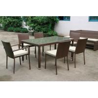 Набор мебели искусственный ротанг Лисма стол + 6 кресел
