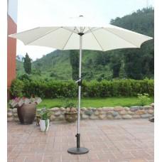 Зонт  молочно-белый, диаметр 3 м, с лебедкой