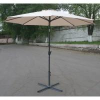 Зонт со светодиодной подсветкой, бежевый, диаметр 3 м