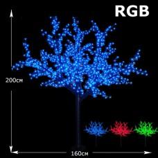 LED дерево Сакура 2м разноцветный