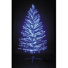"LED-""Ель""синяя, 150см,480 светодиодов, с синими шариками"