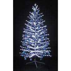 """LED-""""Ель""""белая, 180см,600 светодиодов, с синими шариками"""