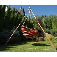 Подвесное деревянное кресло качели МАЙЯ SET c каркасом