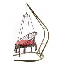 Подвесное кресло качели ARUBA + каркас 001 + балдахин
