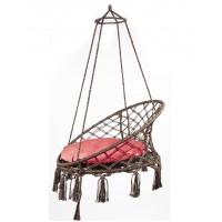 Подвесное кресло качели ARUBA с красной подушкой + балдахин