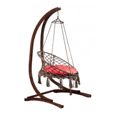 Подвесное кресло качели ARUBA + каркас СORSA + балдахин