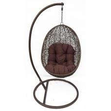 Подвесное кресло Easy brawn (стойка оплетена ротангом)