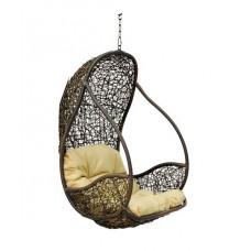 Подвесное кресло Flyhang black/white/brawn (без стойки)