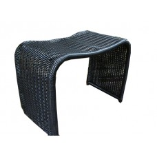 Столик-табурет из искусственного ротанга, черный