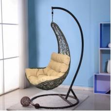 Подвесное кресло Грация бежево-коричневое