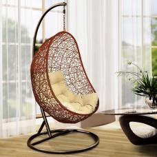 Подвесное кресло Изи оранжево-коричневое