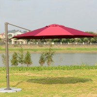 Садовый зонт GardenWay А002-3000 бордовый/бежевый/зеленый/кремовый