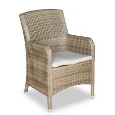 Плетеное кресло MYKONOS обеденное светлое