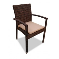 Плетеный стул MILANO темно-коричневый
