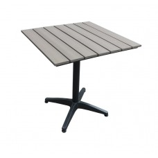 Алюминиевый стол MILANO 70 см светло — коричневый
