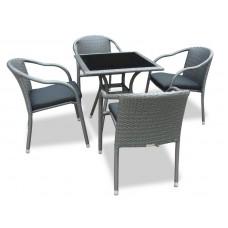 Комплект плетеной мебели LOTUS темно-серый